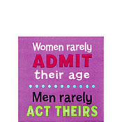 Woman Rarely Admit Their Age Bererage Napkins 16ct