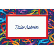 Celebration Streamers Custom Thank You Note