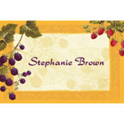Botanical Berries Custom Thank You Note