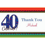 A Year to Celebrate 40 Custom Thank You Note