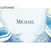 Blue Tallis Custom Thank You Note