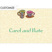 His and Hers Coffee Mugs Custom Thank You Note