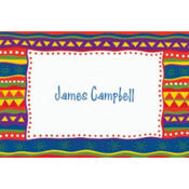 Fiesta Stripes Custom Thank You Note