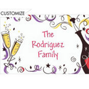 Champagne Celebration Custom Thank You Note