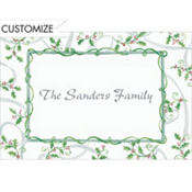 Sweet Tossed Holly Custom Thank You Note