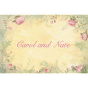 Antique Foliage Custom Thank You Note