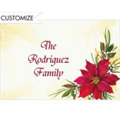 Poinsettia & Berries Custom Thank You Note