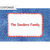 Candy Stripe & Stars Custom Thank You Note