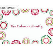 Christmas Circles Custom Thank You Note