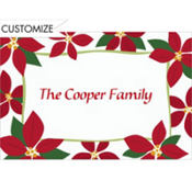 Mod Poinsettias Custom Thank You Note