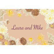 Yellow Zinnias Custom Thank You Note