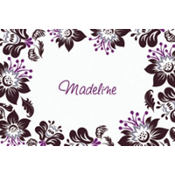 Damask Blossoms Custom Thank You Note