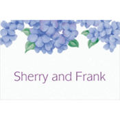 Lively Hydrangeas Custom Thank You Note