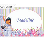 Jasmine in Flower Garden Custom Thank You Note