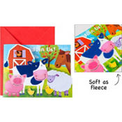 Farm Animals Large Invitations 8ct