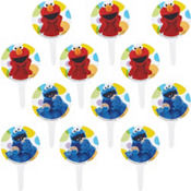 Elmo Cupcake Picks 12ct