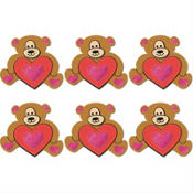 Valentines Day Bear Foam Activity Kit 6ct