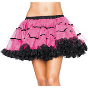 Adult Black and Pink Tulle Petticoat