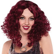 70s Disco Sensation Burgundy Wig