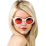 White Mod Glasses