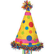 Pull String Party Hat Pinata 11in