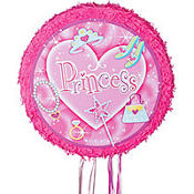 Pull String Round Princess Pinata 17in