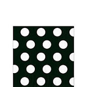 Black Big Dots Beverage Napkins 20ct