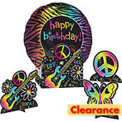 Neon Doodle Centerpiece Kit 5pc