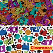 Dots & Stripes 40th Birthday Confetti 2.5oz