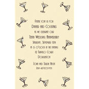 Mini Martini Border Custom Invitation