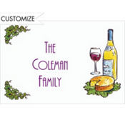 Wine and Cheese Custom Thank You Note