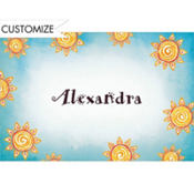 Summer Sun Custom Thank You Note