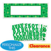 St. Patricks Day Personalized Giant Sign Banner 5 1/2ft x 1 1/3ft