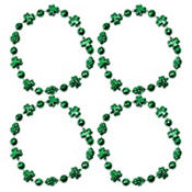 Green Shamrock Bead Bracelets 4ct