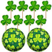 Shamrock Cupcake Combo Pack for 24