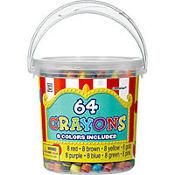 Bucket of Crayons 64pc