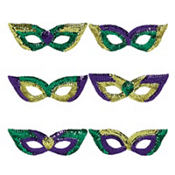 Sequin Mardi Gras Eye Masks 6ct<span class=messagesale><br><b>99¢ per piece!</b></br></span>