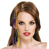 Mardi Gras Hair Extensions 13in 2ct