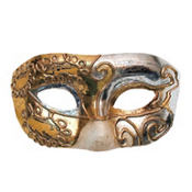 Gold and Silver Teatro Masquerade Mask