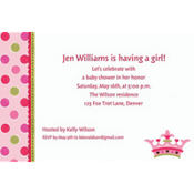 Little Princess Custom Baby Shower Invitation