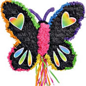 Neon Butterfly Pinata 21in