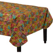 Tiki Time Vinyl Table Cover 52in x 90in