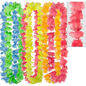 Rainbow Flower Leis 40in 6ct