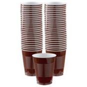 BOGO Chocolate Brown Plastic Cups 50ct