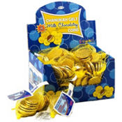 Kosher Chocolate Gelt Coin Bags 48ct