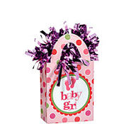Baby Girl Balloon Weight 5.7oz