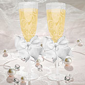 Swirl Wedding Toasting Glasses