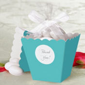 Robin's Egg Blue Popcorn Box Wedding Favor Kit 50ct