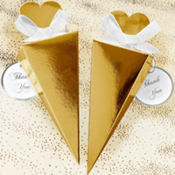 Gold Cone Wedding Favor Kit 50ct
