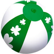St. Patricks Day Clover Inflatable Balls 7in 24ct<span class=messagesale><br><b>49¢ per piece!</b></br></span>